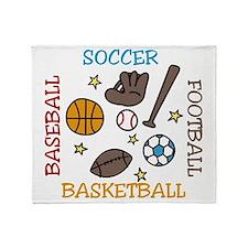 Sports Balls Throw Blanket