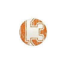 Retro 13 Orange Mini Button