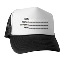 Bag Tag Back Trucker Hat