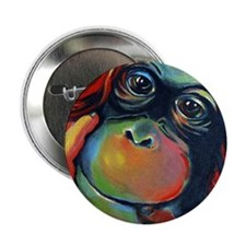"Orangutan Sam 2.25"" Button"