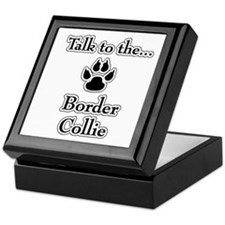 Border Collie Talk Keepsake Box