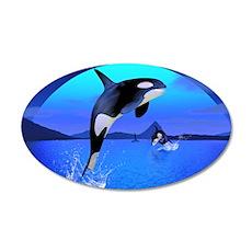 orca_messenger_bag_564_H_F 35x21 Oval Wall Decal