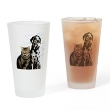 Animal intelligence, conceptual art Drinking Glass
