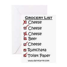 Grocery List Magnet Greeting Card