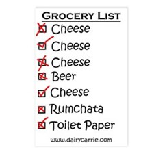 Grocery List Magnet Postcards (Package of 8)