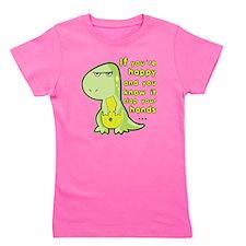T-rex hands Girl's Tee