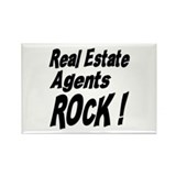 Real Estate Agents Rock ! Rectangle Magnet