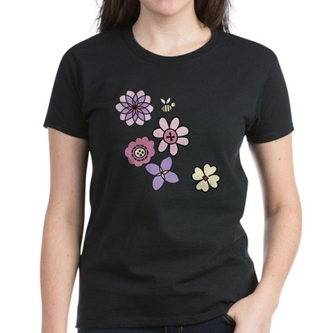 Flowers And Bee T-Shirt
