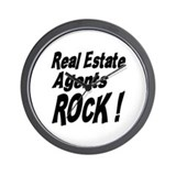 Real Estate Agents Rock ! Wall Clock