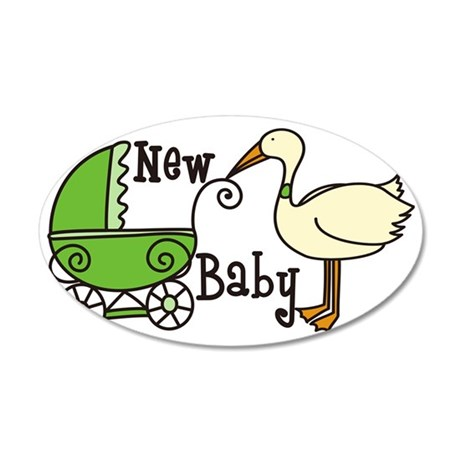 New Baby 35x21 Oval Wall Decal