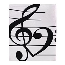 Music heart Throw Blanket