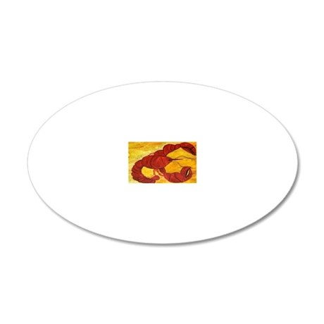 Red Lobster 20x12 Oval Wall Decal