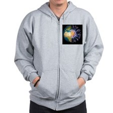 Global flu pandemic, artwork Zip Hoodie
