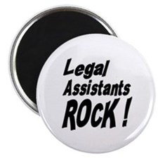 "Legal Assistants Rock ! 2.25"" Magnet (100 pack)"