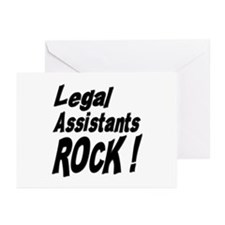 Legal Assistants Rock ! Greeting Cards (Package of