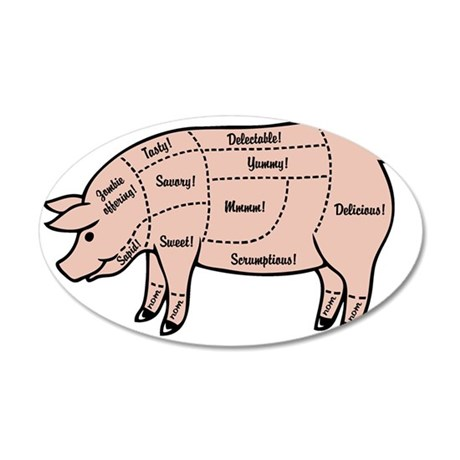 pig-cuts2-T 35x21 Oval Wall Decal