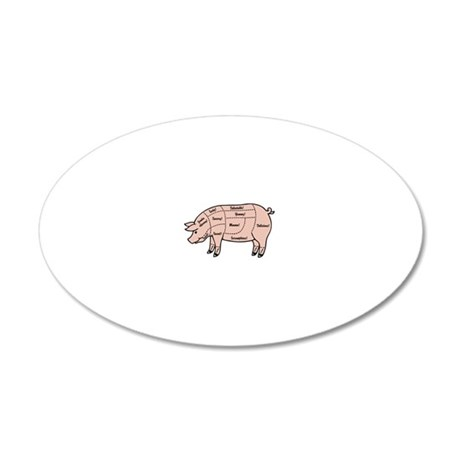 pig-cuts2-T 20x12 Oval Wall Decal