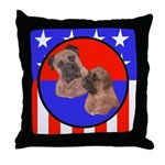 Bull Mastiff Mom & Puppy Throw Pillow