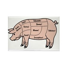 pig-cuts2-T Rectangle Magnet