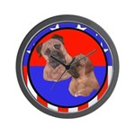 Bull Mastiff Mom & Puppy Wall Clock