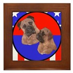 Bull Mastiff Mom & Puppy Framed Tile
