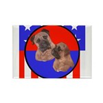 Bull Mastiff Mom & Puppy Rectangle Magnet (10 pack