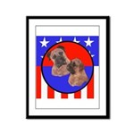 Bull Mastiff Mom & Puppy Framed Panel Print