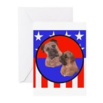 Bull Mastiff Mom & Puppy Greeting Cards (Package o
