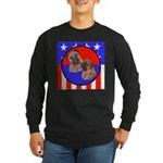 Bull Mastiff Mom & Puppy Long Sleeve Dark T-Shirt