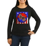 Bull Mastiff Mom & Puppy Women's Long Sleeve Dark