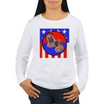 Bull Mastiff Mom & Puppy Women's Long Sleeve T-Shi