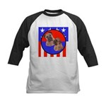 Bull Mastiff Mom & Puppy Kids Baseball Jersey