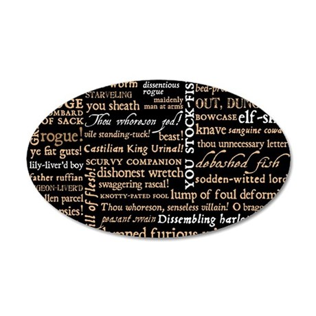 ShakespeareQuotes 35x21 Oval Wall Decal
