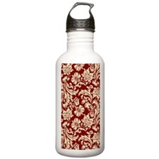 Cream and Scarlet Red  Water Bottle