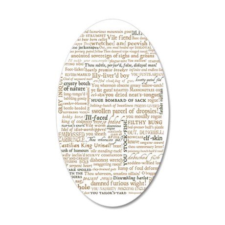 Shakespeare Quotes 35x21 Oval Wall Decal