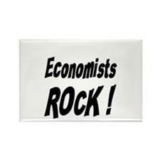 Economists Rock ! Rectangle Magnet
