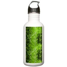 Disco Mirrors in Green Water Bottle