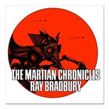 "The Martian Cronicles Square Car Magnet 3"" x 3"""