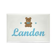 Teddy Bear - Landon Rectangle Magnet