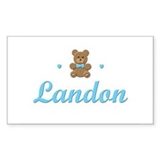 Teddy Bear - Landon Rectangle Decal