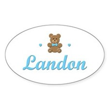 Teddy Bear - Landon Oval Decal