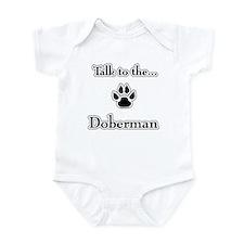 Doberman Talk Infant Bodysuit
