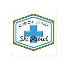 "Keystone Ski Patrol Badge Square Sticker 3"" x 3"""