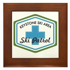 Keystone Ski Patrol Badge Framed Tile