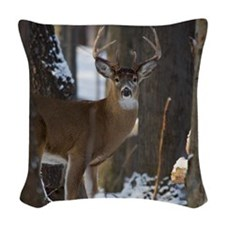 Trophy Whitetail D1316-014 Woven Throw Pillow