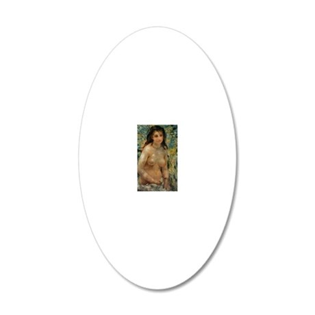 Renoir - Nude in the Sunligh 20x12 Oval Wall Decal