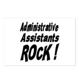 Administrative Assistants Rock ! Postcards (Packag