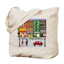 NP retro scene Gails watercolor art Tote Bag