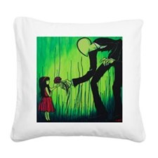The Slender Man Square Canvas Pillow