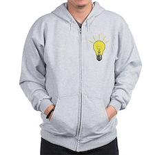 Bright Idea Light Bulb Zip Hoodie